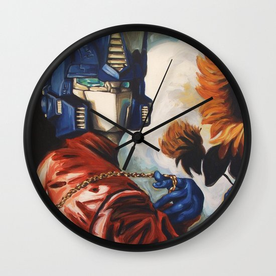 Optimus Prime With Sunflower Wall Clock