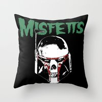 Misfetts Throw Pillow