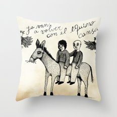 And you will return with your horse tired Throw Pillow