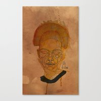 The Woman With The Black… Canvas Print