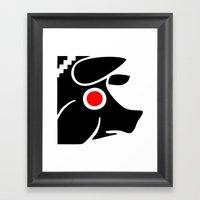 Zelonicus Pig Framed Art Print