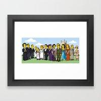 Downton Abbey cast Framed Art Print