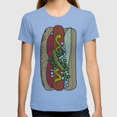 HOT DOG Womens Fitted Tee Athletic Blue SMALL