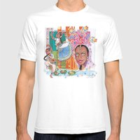 India Dancer Mens Fitted Tee White SMALL