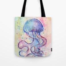 Jellyfish Watercolor Tote Bag