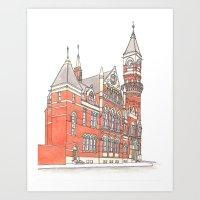 NYC Jefferson Market Library Art Print
