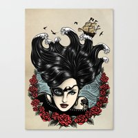 Pirate Queen (Color) Canvas Print