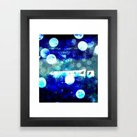 Match Stick In H2o Framed Art Print