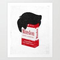 Smoker's Face Art Print