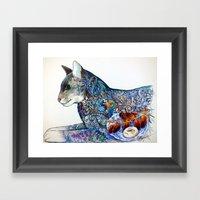 Oriental Cat Framed Art Print