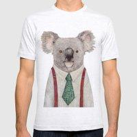 Koala Mens Fitted Tee Ash Grey SMALL
