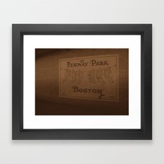 Fenway Park, 1912-1934 - Boston Red Sox Framed Art Print