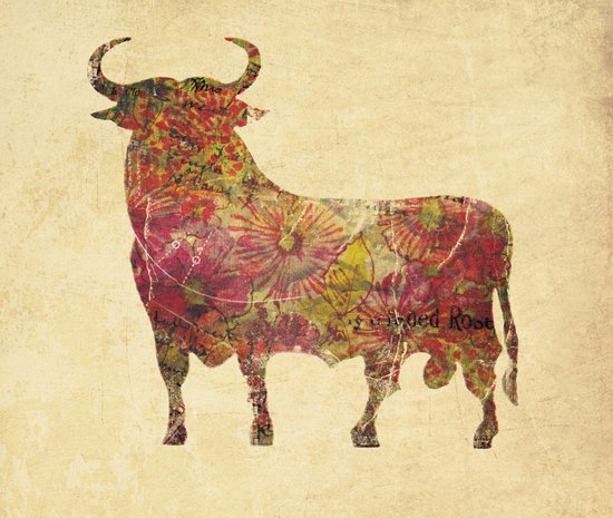 The vintage bull Canvas Print