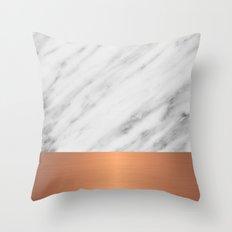 Carrara Italian Marble Holiday Rose Gold Edition Throw Pillow
