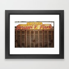 Brussels Tavern Framed Art Print