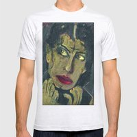 SARAH, A CITY OF ANGELS GOTH Mens Fitted Tee Ash Grey SMALL