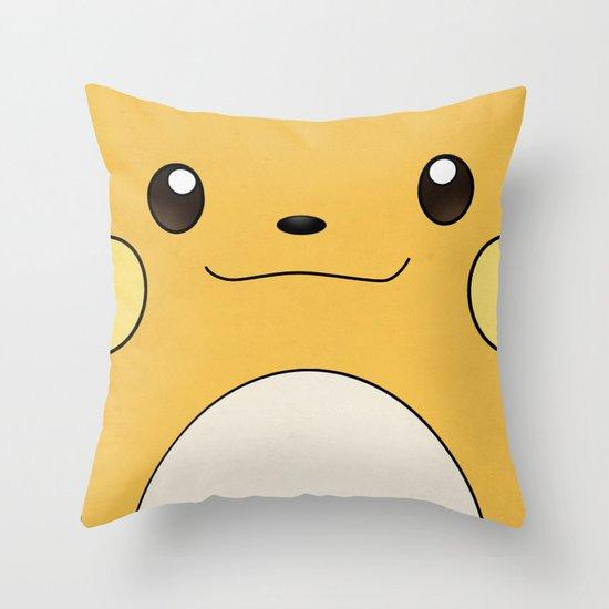 Raichu - Pikachu's evolution. Pokemon Poster Throw Pillow
