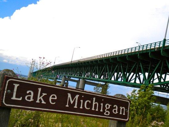 Lake Michigan - Mackinac Bridge Art Print