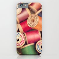 iPhone & iPod Case featuring vintage spools by shannonblue