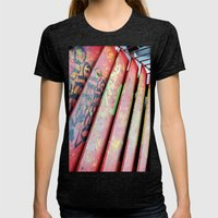 Stairs Womens Fitted Tee Tri-Black SMALL