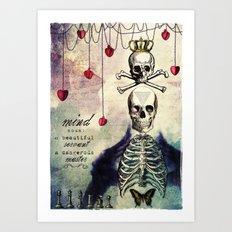 the mind Art Print