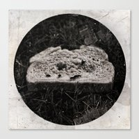 Discarded Bread Canvas Print