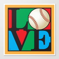 Love Baseball Canvas Print
