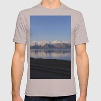 The Alaskan Railroad Mens Fitted Tee Cinder SMALL