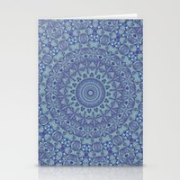 Shades of blue mandala Stationery Cards