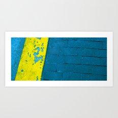 Turquoise Sidewalk Art Print