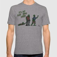 It's Not Easy Being Green Mens Fitted Tee Athletic Grey SMALL