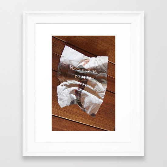disposable fashion Framed Art Print