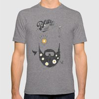 Make Beards not War (typo edition) Mens Fitted Tee Tri-Grey SMALL