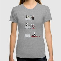Eating Habits of the Panda Womens Fitted Tee Tri-Grey SMALL