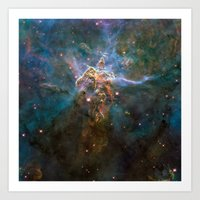 Mystic Mountain Nebula Art Print