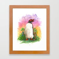 Mr. Penguin Is Chillin Framed Art Print