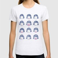 Bubble bubble bubble gum Womens Fitted Tee Ash Grey SMALL