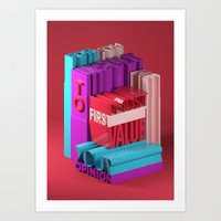 Typographic Insults #8 Art Print