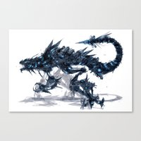 Coldfire Hound Canvas Print