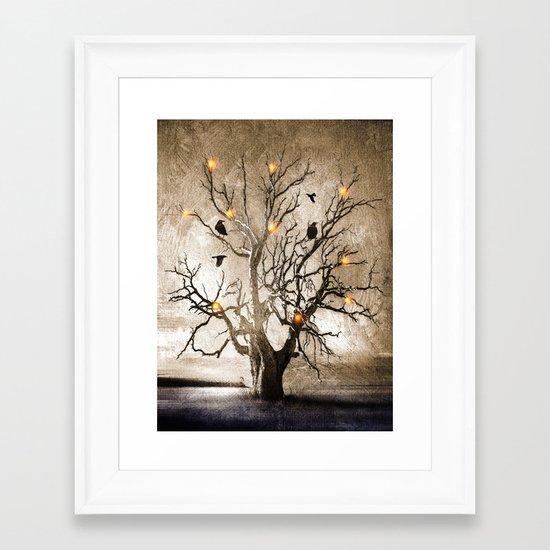 Raven christmas I - HOLIDAZE Framed Art Print