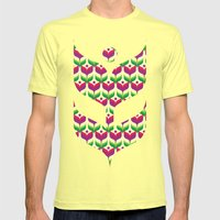 Tulip Garden Mens Fitted Tee Lemon SMALL