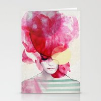 beach Stationery Cards featuring Bright Pink - Part 2  by Jenny Liz Rome