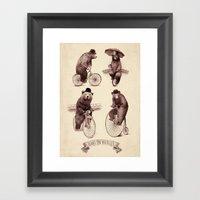 Bears on Bicycles Framed Art Print