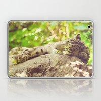 Sleepy Snow Leopard  Laptop & iPad Skin