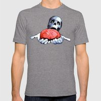 Brains! Live Brains! Mens Fitted Tee Tri-Grey SMALL