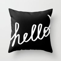 Hello! Throw Pillow