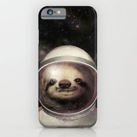 iPhone Cases featuring Space Sloth  by Eric Fan