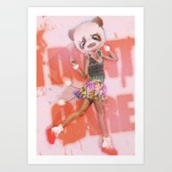 Art Print featuring I DON't CARE by Galvanise The Dog