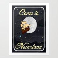 Disney's Peter Pan Never… Art Print