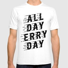 All Day Erry Day Mens Fitted Tee White SMALL